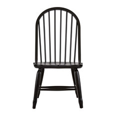 Bow Back Side Chair, Black