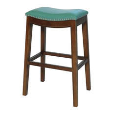 Elmo Bonded Leather Bar Stool Turquoise