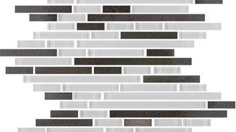 Quartz Gray Stone and Glass Mosaic, Full Sheet
