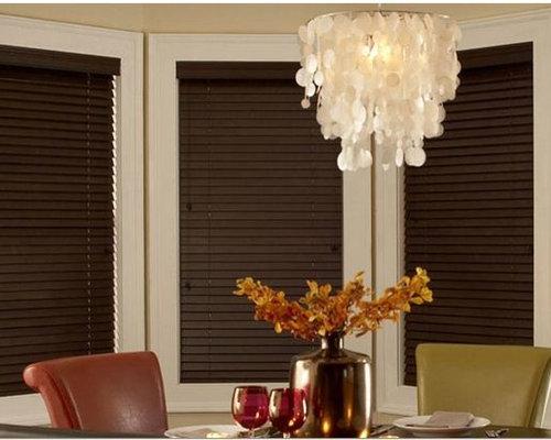 Dark Wood Blinds Dining Room Inspiration