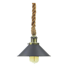 Rope pendant lighting houzz hangout lighting antique black shade rope pendant light pendant lighting aloadofball