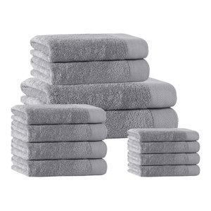 Signature 14-Piece Towel Set, Silver