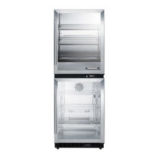 Fully Assembled Warming Cabinet and Glass Door Beverage RFBW61G