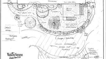 Residential Backyard by Designer Steve Fisher of Watkins Nurseries, Inc.