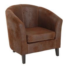 Zoe Light Brown Armchair