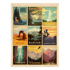 Anderson Design Group - Art & Soul of America: National Parks Multi Gallery Print - Prints and Posters