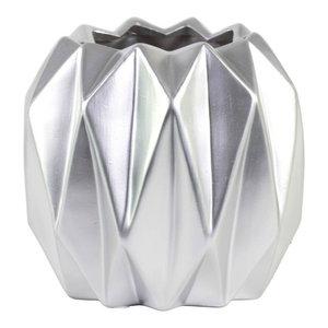 Urban Trends Ceramic Vase, Silver