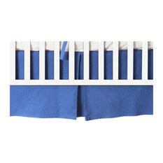 Elizabeth Allen Atelier - Aegean Linen Tailored Crib Skirt - Crib Accessories