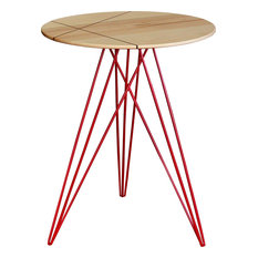 Hudson Inlay Side Table, Red, Maple