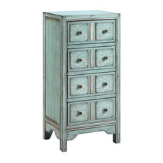 Apothecary Accent Chest, Surf Blue Finish