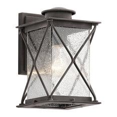 Weathered Zinc 1-Light Outdoor Wall Light, Small