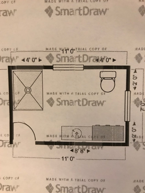 Best 7x11 Bathroom Layout Design