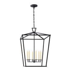 crosby collection large pendant light. Visual Comfort - E. F. Chapman Darlana Extra Large Lantern, Aged Iron Pendant Lighting Crosby Collection Light