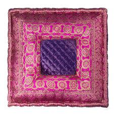 "LIFESTYLE - Sumatra 18""x18"", Purple - Floor Pillows and Poufs"