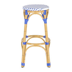 Safavieh Kipnuk Stool Blue/White (Indoor/Outdoor), Blue and White