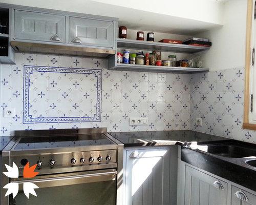 r alisation d 39 une cr dence de cuisine faience ponchon. Black Bedroom Furniture Sets. Home Design Ideas