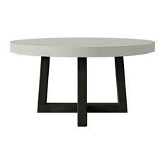 Torre Round Concrete Dining Table, Concrete