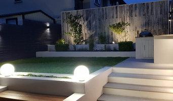 Garden Design where lighting was key