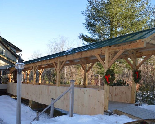 Timber Frame Covered Bridge Wheelchair Ramp