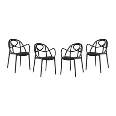Etoile Garden Armchairs, Anthracite, Set of 4
