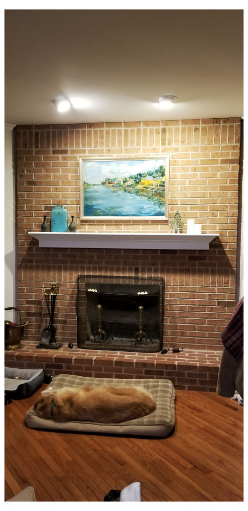To Paint Brick Fireplace White Or Not Need Help