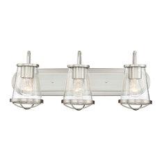 Designers Fountain 87003-SP Darby Bathroom Light In Satin Platinum