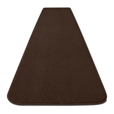 "Skid-Resistant Carpet Runner, Chocolate Brown, 36""x22'"