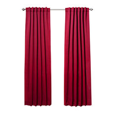 best home fashion solid thermal insulated blackout curtains pair cardinal red 108