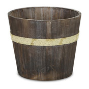 Rustic Wooden Garden Bucket, Brown