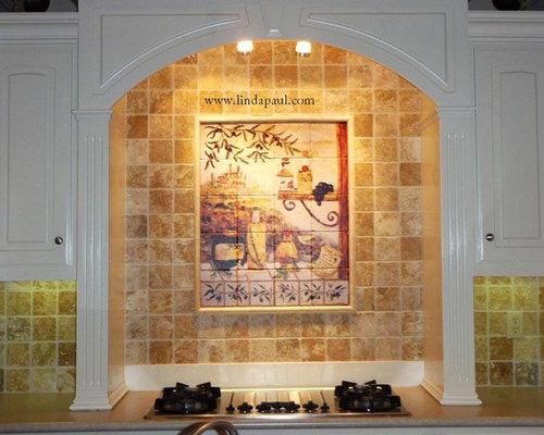 Kitchen Backsplash Medallions kitchen backsplash murals, mosaic medallions and accent tiles