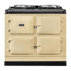Aga Dual Control Cast Iron 3-Oven Dual Fuel Range, Cream