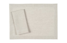 Natural Undyed Linen Placemat, Set of 4