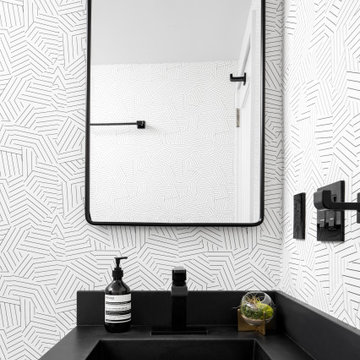 Lower East Side Black and White Guest Bath