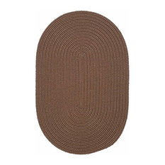 Colonial Mills, Inc - 10 Ft. X 13 Ft. Oval Rug ,Cashew Textured Braided   by Super Area Rugs - Outdoor Rugs