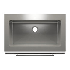 """Farmhouse Sink With Single Bowl, Stainless Steel 16 Gallon, 42""""x27.88""""x10"""""""