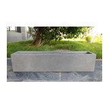 Window Box Light Concrete Planter, Grey, Large