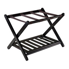 Winsome Trading, Inc   Reese Luggage Rack With Shelf   Closet Organizers
