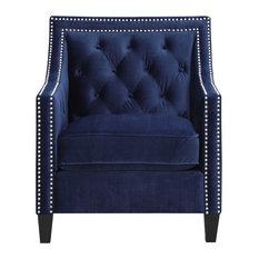 Teagan Accent Chair, Navy