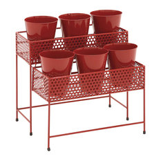 Chapelton Metal 2-Tier Plant Stand, Red
