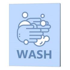 Boy's Bathroom Task-Wash by Color Me Happy Canvas Art, 16x20