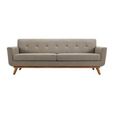 Modway Engage Upholstered Sofa, Granite