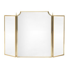 Solid Brass Fireplace Screen, Small, 573