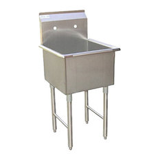 """Commercial Grade Stainless Steel Laundry/Garage Sink, 15""""x15"""", No Faucet"""