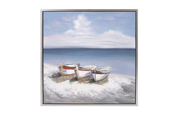 Beautiful Seaside Oil on Canvas With Frame