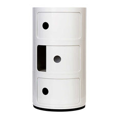 Componibili Small Round Storage Modules By Kartell White