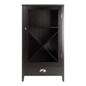 Winsome Bordeaux X Panel Modular Bar Cabinet in Espresso
