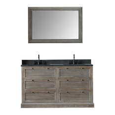 Gilbert Elm Vanity With Faucet and Mirror, 60""