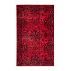 "Jaipur Living Fayer Indoor/Outdoor Medallion Red/Black Rug, 5'x7'6"""
