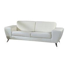Julie Leather Match Sofa, White