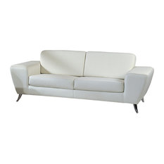 beverly hills furniture julie leather match sofa white sofas - White Leather Sofa